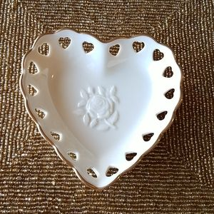 Vintage Lenox Heart Collection Trinket Dish